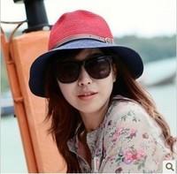 2014 hat  summer women's sunbonnet sun hat big beach capJ-032