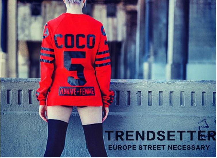 Coco canal. 2014 nouvelle mode automne hommes femmes zipper desigual taille plus lâche pull capuche capuche sweat& d'hiver au chaud