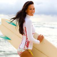 New Arrival Female Split Sunscreen Submersible Top Snorkel t-shirt Wetsuit Diving Suit