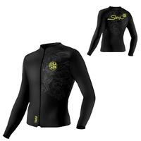 Free Shipping Split Swimwear 5mm Thermal Top Waterproof Male Female Zipper Long-sleeve Wetsuit Diving Suit