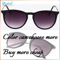 Hot Sales 2014 New Summer Coating Sunglass Gold Eyewear Female Frog Mirror Uv400 Sunglass Hut  Wholesale