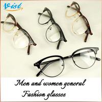 Hot Sale Fashion Brand VIST 2014 New Summer Men Glasses Black Multi Flat Glasses Lentes Unisex Black 2Pcs/5% Off