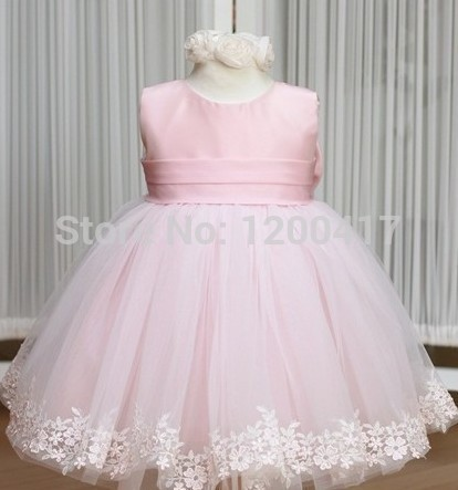 etail Pink girl dresses girl's party High-grade Princess dresses chiffon Big bowknot dresse childrens clothing dress(China (Mainland))