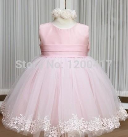 etail Pink girl dresses girl's party High-grade Princess dresses chiffon Big bowknot dresse childrens clothing dress(China (Mainland))