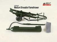 1/6 Trailer flamethrower model (metal 1:6 model  Flame detector of world war ii)