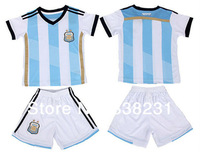 NEW Argentina Children Soccer Jersey World Cup 2014 Sports baby & kids Football Kid Shirts Player Version MESSI 10 Clothes