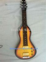 EMS Free Shipping sunburst electric Hawaiian guitars Electric lap steel guitars Hawaiian pedal steel guitar travel guitar