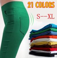 21 COLORS New Arrivals Autumn-Winter Women's Pants Fashion Candy Color With 4 Pockets Fit Lady Jeans Cotton Trousers S-XL