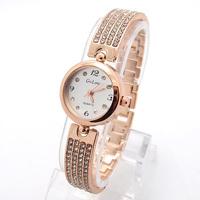 Wholesale Rose Gold women rhinestone  wristwatches ladies fashion quartz watch Women watches SQW134