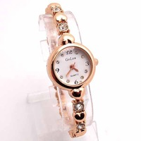 Wholesale Silver Rose Gold women wristwatches ladies fashion Analog quartz watch rhinestone Women dress watches SQW130