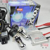 1set slim ballast H4-3 HID Bixenon AC H4 headlight bulb super white kit bi xenon H4 4300K 6000K 5000K 8000K 10000K Hi Lo