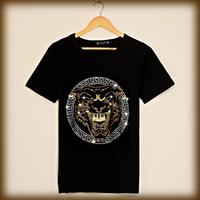 2014 Czech Diamond ! High Quality Luxury Customize Japan HARAJUKU Color Diamond t-shirt rhinestones Lion Tiger tops Men Women