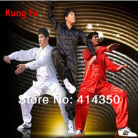 Free shipping Chinese Kung Fu Suit Tai Chi Clothing Clothes Silk Uniform Martial Art Unform for women and men 2014 new