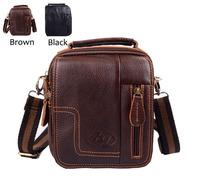 Men Messenger Shoulder Bag Waist Bag For Men Genuine Leather Purse Pocket Fashion Bag Small Mini Bag