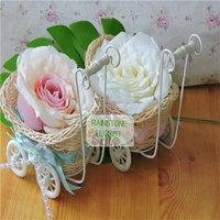 New Year Christmas Frozen Party 15cm Flower Basket 10 pcs Wedding Home Decoration Baby Wheelbarrow Vase FL1377 vasos decorativos