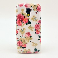 Hard Case For Samsung Galaxy S4 Mini i9190 Back Cover Nice Flower Design Cell Phone Cases Free Shipping