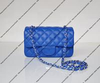 New Style Mini Designer Shoulder Bag / 20CM Small Designer Chain Bag / Classic Lambskin Handbag With Silver Chain (BG318)
