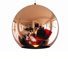 Free shipping Tom Dixon glass Bronze Copper mirror shade Ball pendant lamp Dia 15cm(China (Mainland))