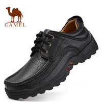 First Layer Of Cowhide New 2014 Genuine Leather CAMEL Shoes Men Casual Flats Lace Up Moccasins Plus Size Men's Loafers #5057