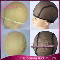 FREE SHIPPING, Beige/ Black Color Machine made Wig inner Net cap  weaving caps weave Net medium size ON sale!! L1410J14-13C