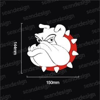 Bulldog cartoon  body stickers reflective stickers,vinyl decal,free shipping