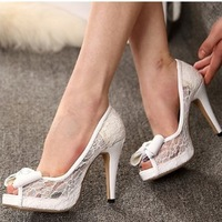 29827 Women's Shoes 2014 High Heels Fashion Pumps For Women Lace Shoes Sexy Shoes For Wedding Free Shipping Size 35-43