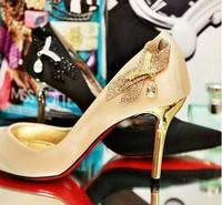 889-10 Vintage Sexy Pointed Toe High Heels Women Pumps Rhinestone Shoes 2014 Brand New Design Platform Pumps Size35-43