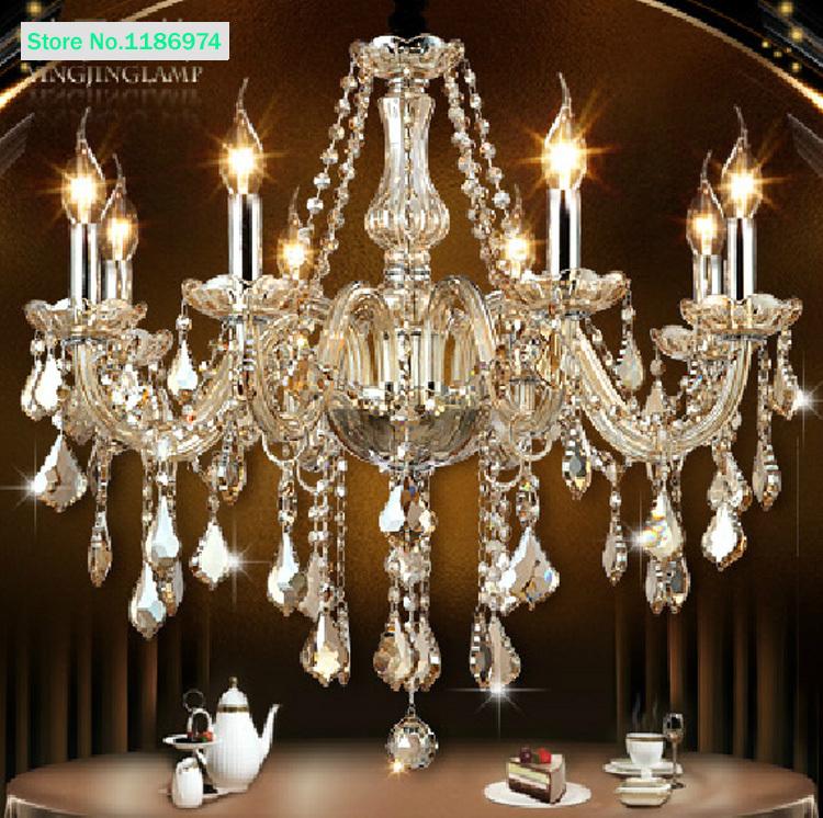 buy cognac modern crystal chandelier 8