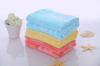 Free shipping Waste-absorbing super soft face towel family Child towel solid color 100% cotton towel 33x73cm 3pcs/lot