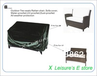 Free shipping Outdoor two seats Rattan chair,sofa cover,water-proofed,UV proofed,Dust-proofed All weather protection