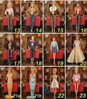 30pcs/lot , Free Shipping,30items= Dress + Shoes + Hangers+bag Fashion Clothing For Original Barbie Dolls