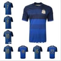 A+++ 2014 World Cup New Argentina away soccer jersey Top Thailand Quality football shirt Uniform