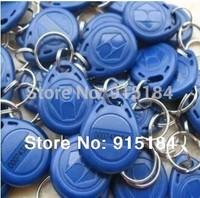 Free shipping 100pcs/lot 125KHz proximity ABS key tags RFID key fobs for access control rewritable ATMEL T5577 chip
