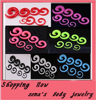Free Shipping  wholesale 100pcs mix 1.6-10MM spiral ear taper body jewelry acrylic ear plug tunnel