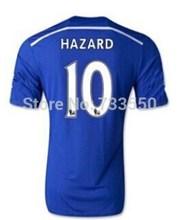 Chelsea Jersey 14 15 Início Melhor Qualidade Chelsea Tailândia 2015 do futebol camiseta Fora Treinamento Yellow Uniform Hazard Oscar Schurrle(China (Mainland))