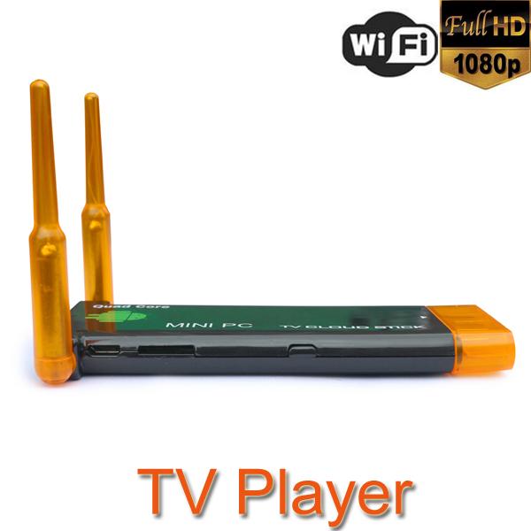 CX919 Android 4.2 Mini PC Box TV Stick Quad Core 2G/8GB Bluetooth Dual External WiFi Antenna 1080P(China (Mainland))