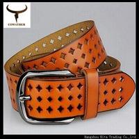 2014 new Women's Genuine leather hollow Korea fashion wide leather women's belts  XIN12 width 2-4cm length100-135cm free ship
