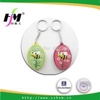 Custom Cheap 3D Cute Cartoon Souvenir Promotional  PVC Key Chain