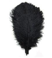 10pcs12-14'' (30-35cm) Black Ostrich Feathers Wedding Decoration AE00369-2