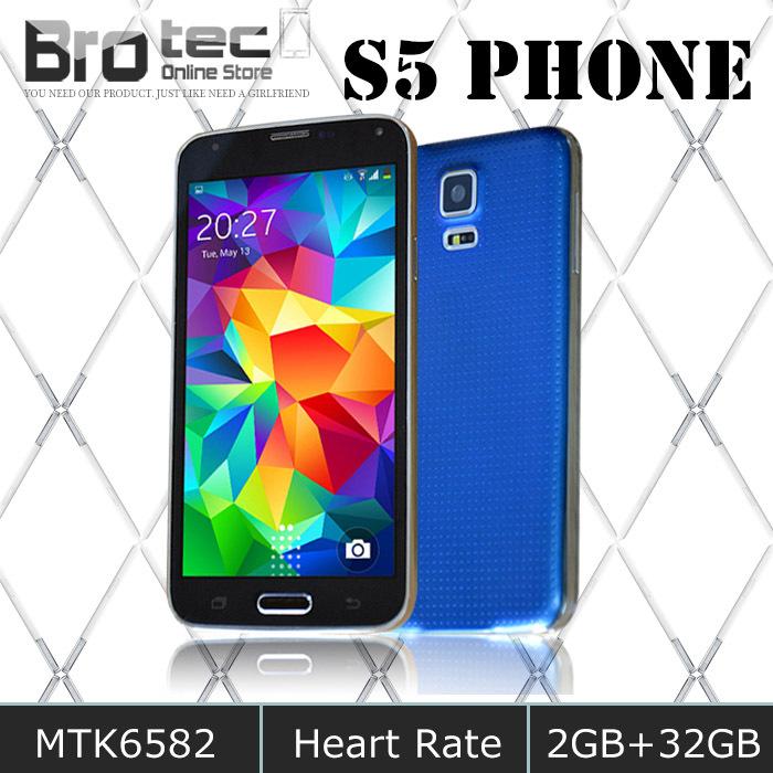 "Empreintes digitales étanche. hdc s5i9600 téléphone 2gb ram. 32gb rom mtk6582 mobile téléphoneintelligent 5.1"" 16mp 4.4.2 appareil androidips écran"