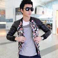 New 2014 Spring and Autumn Flower Vintage Handsome Decorative Pattern Fashion Men Jacket three-color
