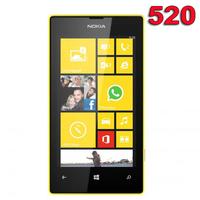 "Refurbished Original Nokia Lumia 520 Mobile Phone 3G Dual Core GPS Wifi 5MP 4.0"" Windows Phone 520 Yellow & One Year warranty"