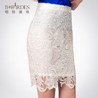 High quality all-match laciness slim hip short skirt lace bust skirt women's handbag skirt step skirt