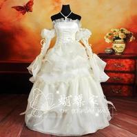 Euphemia Gown [Code Geass] Custom size cosplay costume White Wedding Dress