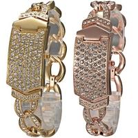 Fashion elegant Lady's Girl's the shining Brilliant Rhinestone Ornament women Wrist Watch