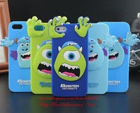 For iphone 5 5s case 2014 3D Monsters Sully Mike Soft Silicon Rubber cell phone cases covers for iphone5 Free Shipping