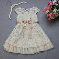 Retail Floral Girls Dress 100% Cotton Frozen Dress Fit 2T  3T  4T  5 6 Children's Summer Dress Brand Free Shipping
