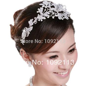 Белла мода волосы ювелирные изделия для новобрачных ясно цветок повязка на голову ...
