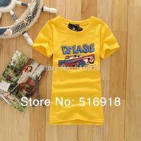 [Magic]Hot sale!!! Free Shipping 2014 New Design CottonT Shirt Women Fashion Short Sleeve Women's t-shirt 20 models