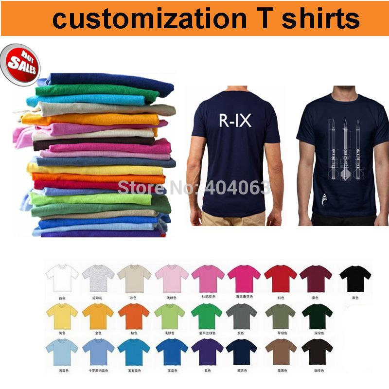 Mini wholesale!50%-60% off shipping cost!custom T shirt printing,custom logo shirts,print your logo,100% Cotton,25colors,US size(China (Mainland))